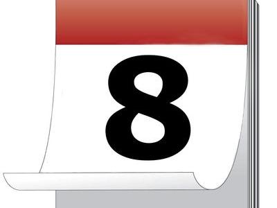 Confira o calendário de atividades - 8 de outubro