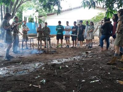 Técnicas e cuidados na preparação do fogo na  Escola Estadual Professor Honório Rodrigues Amorim
