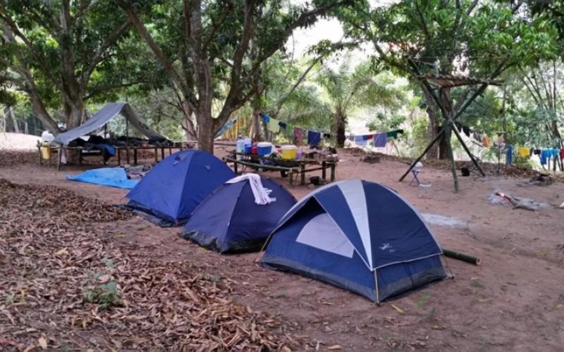 Acampamento da Tropa Sênior vira matéria na TV Centro América
